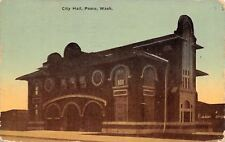 Pasco Washington~City Hall~Fire Department Garage Doors~c1912 Postcard