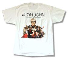 Elton John Rocket Man The Hits 2008 World Tour White T Shirt New Official