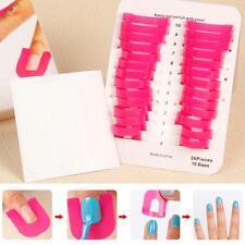 Manicure Finger Case Shield Nail Polish Mold Stencil Tool Protector