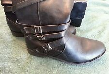 Womens Torrid Black Strapy Ridding Boots Womens Size 10W