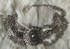 Versace For H&M Silver Medallion Choker Statement Necklace