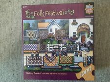 Quilting Country 1000 Piece Puzzle Eric Dowdle Master Pieces Folk Festival