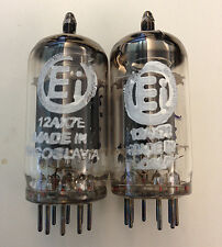 2 NOS MATCHED & BALANCED Ei ELITE 12AX7E SMOOTH PLATE TUBES for DAC Preamp Amp