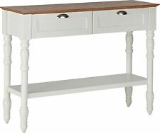 Wood Veneer Console Tables with Drawers