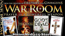 4 Pack Heaven Is For Real - WAR ROOM - Gods Not Dead - Do you Believe SHIPS NOW
