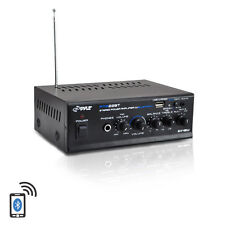 Pyle PTA22BT 2 x 40W Bluetooth PA Stereo Power Amplifier W/USB/SD/AUX