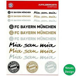 FC Bayern München Aufkleber Aufkleberkarte Sticker Logo Schriftzug Auto FCB