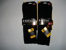 UNDER ARMOUR 2 Pair WOOL COLDGEAR Black BOOT SOCKS Mens Size MEDIUM  4 - 8.5 NEW