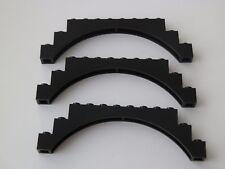 Lego 6108# 3x Brücke 1x12x3 Schwarz 4730 6079
