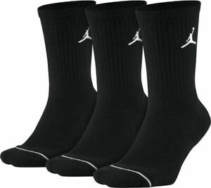 Nike Men's Air Jordan JUMPMAN 3 Pack CREW Socks black L large SX5545-013
