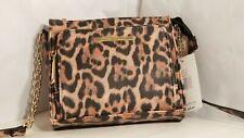 Steve Madden Bmaggie Leopard Womens Crossbody Bag Purse Satchel