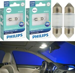 Philips Ultinon LED Light DE3175 White 6000K Two Bulbs Interior Dome Replace Fit
