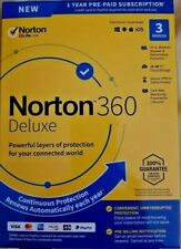 Norton 360 Deluxe 3 Devices 1 Year Android|Mac|Win|iOS [VPN, 25GB Cloud Backup ]