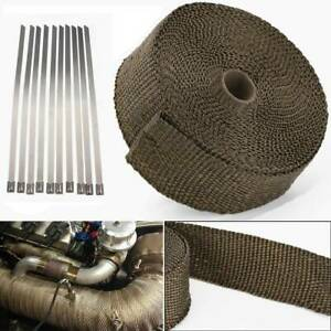 20M Titanium Motorcycle Exhaust Downpipe Manifold Heat Wrap Roll Tape Insulating
