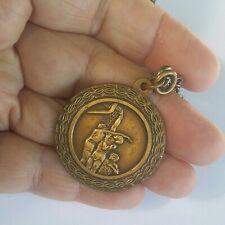Vintage Art Deco Design Basketball Trophy Award Medal