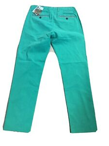 Ted Baker Water Resistant Golf Chino Fit Men's Green Pants Size 34R