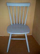 Massivholzstuhl Stuhl grau lackiert, skandinavisch, Gummibaumholz Impressionen