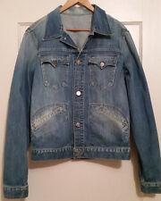 TRUE RELIGION *NEW* Denim DALTRY SNAKE EYEYS RETRO Jacket MEDIUM Mens Wash Jean
