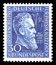 EBS Germany 1951 Wilhelm Röntgen Nobel Prize X-Ray Michel 147 MH*