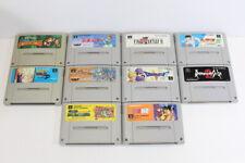 Lot 10 Super Famicom Games SFC SNES Japan Import Mario World Donkey Kong #25