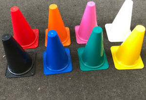 12x Plastic Sports Marker Cones Agility Football Pitch Training Fitness Exercise