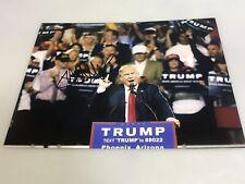 President DONALD TRUMP Hand Campaign Signed Autographed 8x10 photo*COA LIA