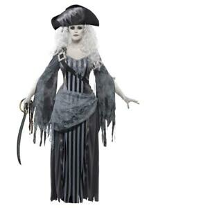 Adult Womens Ghost Ship Princess Pirate Themed Fancy Dress Costume