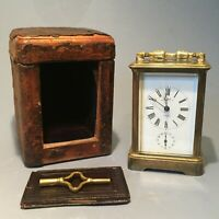 19th Century Carriage clock with Alarm Function retailed by Mahr of London