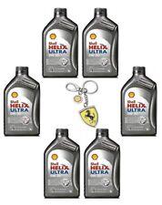 PROMO 6x1 Olio Shell Helix Ultra ECT C2/C3 0W-30 con Portachiavi Ferrari Omaggio