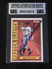 MATT WILLIAMS 1991 SCORE MASTER BLASTER SIGNED AUTOGRAPHED CARD CAS AUTHENTIC