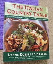 ITALIAN COUNTRY TABLE COOKBOOK rustic homecooking farmhouse recipes HARDBACK/DJ