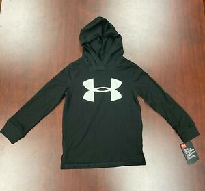 Under Armour Boys' Pull Over Hoody (Black And Moderate Gray)