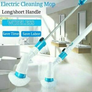 Electric Spin Scrubber Turbo Scrub Cleaning Brush Cordless Chargeable Stretch UK