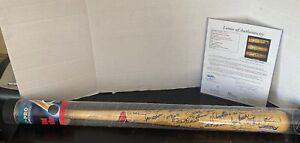 1989 Hall of Fame Bat Signed JSA LOA Auto Hank Aaron Willie Mays 54 Signatures