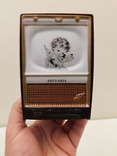 VINTAGE SYLVANIA MINIATURE ANTIQUE OLD TELEVISION ADVERTISING LIGHTUP DISPLAY