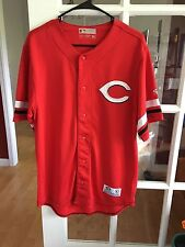 True Fan Cincinnati Reds Jersey M(38-40) Stitched Logo EUC