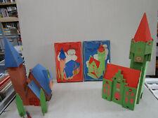 """DUBREUCQ : Jeu belge de construction """"mon village"""" en carton (id. puzzle Tintin)"""