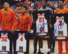 WHITE GILLON COLEMAN ROBERSON Signed Autograph 8x10 Photo Syracuse Orange SU