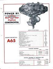 Aircraft Engine Brochure - Continental Motors - A65 - c1953 (B510)