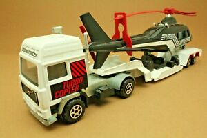 """Camion VOLVO F10 Globetrotter """"TURBO-COPTER"""" - MAJORETTE - Made in France - 1:60"""