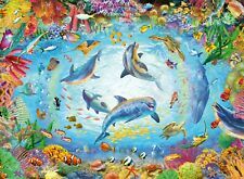 Ravensburger - 500 PIECE JIGSAW PUZZLE - Cave Dive Dolphins