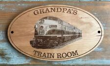 """PERSONALIZED with ANY NAME """"Kansas City Southern F Unit"""" Engraved Wooden Sign"""