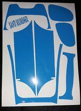 1/10 RC Decal Sheet Precut Customized Sand Scorcher Panels Blue