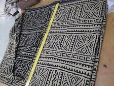 """Authentic Ethnic African woven fabric-Black/White Reversible 60""""Acrylic-Clothing"""
