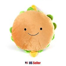 "Yammy Yammy 16"" Large Food Pillow Toy Doll Plush Bedding Car Cushion : Hamburger"