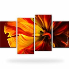 Tulpe Blume Natur Bild Bilder Wandbild Kunstdruck 4 Teilig