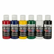 Airbrush Paint - Createx Primary Set 6x 60ml Fabric Plastic Glass Wood #5801-00