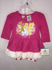 2pc Disney Baby Princesses Outfit Leggings Top Shirt 12M Aurora Belle NEW