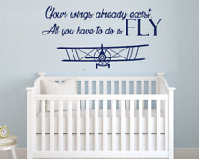 """Your Wings Already Exist... Fly Quote Wall Decal, width 39"""" x 22"""" Height."""