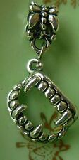 Supernatural Silver Vampire Teeth Charm necklace pendant fits charm bracelet Sam